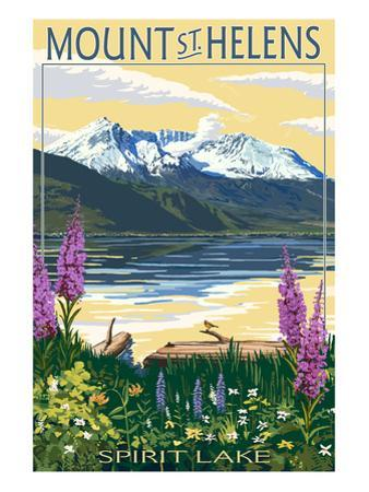 Mount St. Helens, Washington - Spirit Lake by Lantern Press