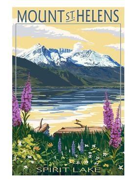 Mount St. Helens, Washington - Spirit Lake by Lantern Press