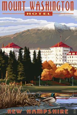 Mount Washington Hotel in Fall - Bretton Woods, New Hampshire by Lantern Press