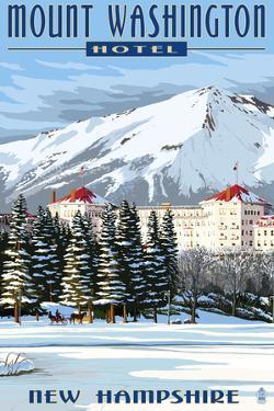 Mount Washington Hotel in Winter - Bretton Woods, New Hampshire by Lantern Press