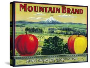 Mountain Apple Crate Label - Hood River, OR by Lantern Press