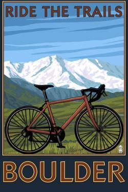 Mountain Bike - Boulder, Colorado, c.2009 by Lantern Press
