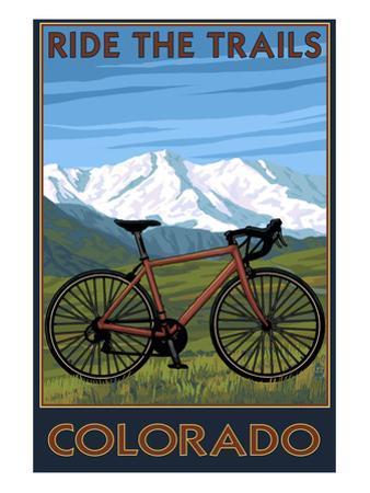 Mountain Bike - Colorado by Lantern Press