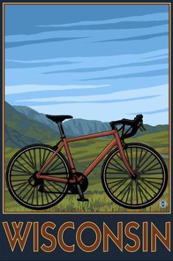 Mountain Bike Scene - Wisconsin by Lantern Press