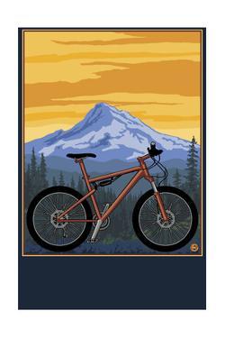 Mountain Bike Scene by Lantern Press