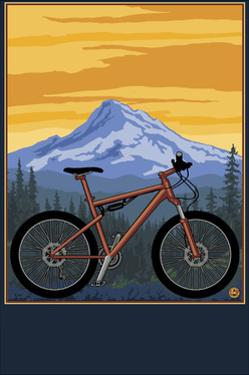 Mountain Bike Scene by Lantern Press