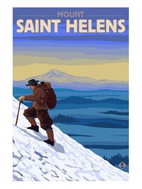 Mountain Climbing, Mount St. Helens, Washington by Lantern Press