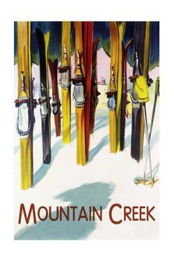 Mountain Creek - Colorful Skis by Lantern Press