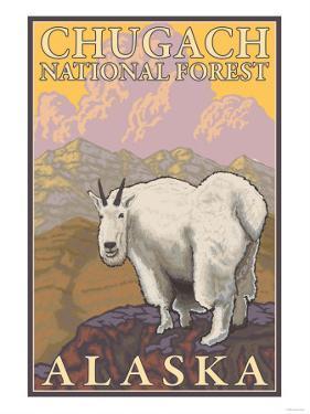 Mountain Goat, Chugach National Forest, Alaska by Lantern Press
