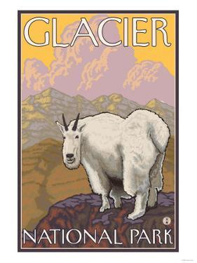 Mountain Goat, Glacier National Park, Montana by Lantern Press