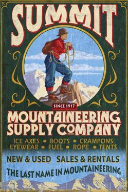 Mountaineering Supplies - Vintage Sign by Lantern Press