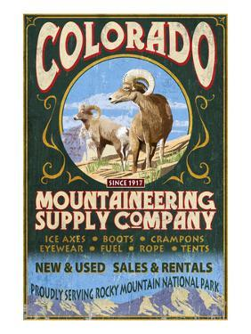 Mountaineering Supply - Rocky Mountain National Park by Lantern Press