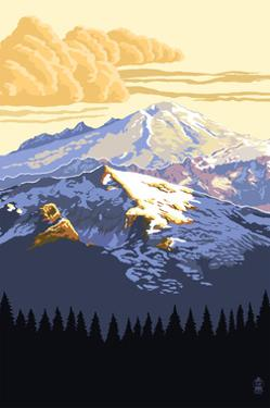 Mt. Baker Snoqualmie National Forest (Image Only) by Lantern Press