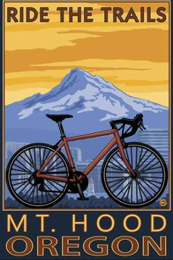Mt. Hood, Oregon - Ride the Trials by Lantern Press