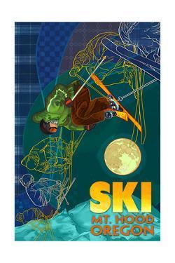 Mt. Hood, Oregon - Timelapse Skier by Lantern Press