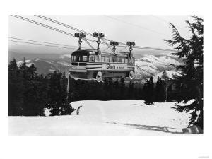 Mt. Hood Skiway to Timberline Lodge Photograph - Mt. Hood, OR by Lantern Press