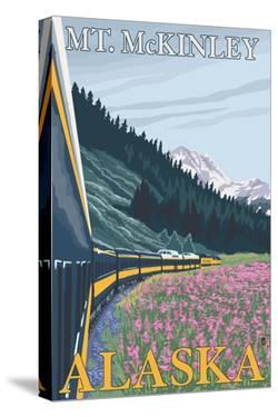 Mt. McKinley, Alaska - Railroad Scene by Lantern Press