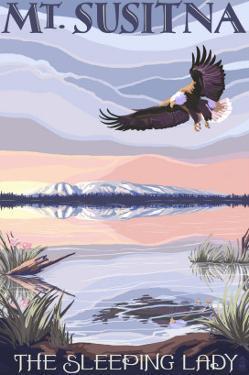 Mt. Susitna, Alaska - The Sleeping Lady by Lantern Press