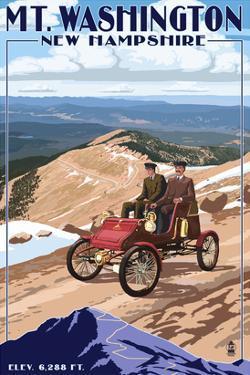 Mt. Washington Auto Road, New Hampshire - Stanley Locomobile by Lantern Press