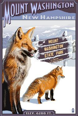Mt. Washington, New Hampshire - Fox Scene by Lantern Press