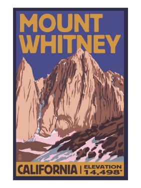 Mt. Whitney, California Peak by Lantern Press