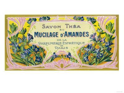 Mucilage D' Amandes Soap Label - Paris, France by Lantern Press