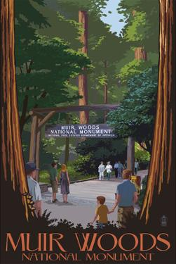 Muir Woods National Monument, California - Entrance by Lantern Press