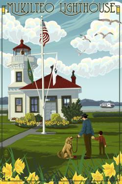Mukilteo Lighthouse - Mukilteo, Washington by Lantern Press