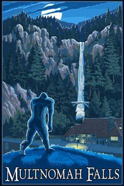 Multnomah Falls, Oregon - Bigfoot by Lantern Press