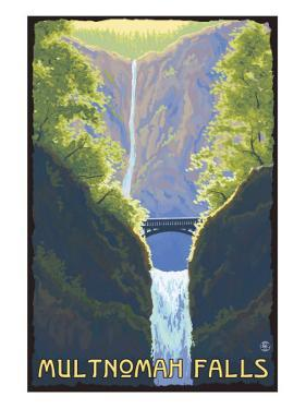 Multnomah Falls, Oregon - Maiden of the Falls by Lantern Press