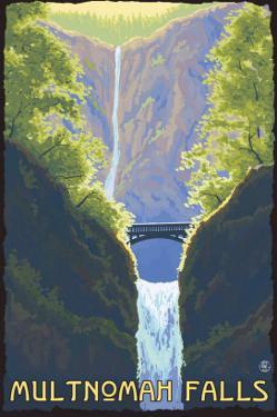 Multnomah Falls, Oregon - Maiden of the Falls by Lantern Press