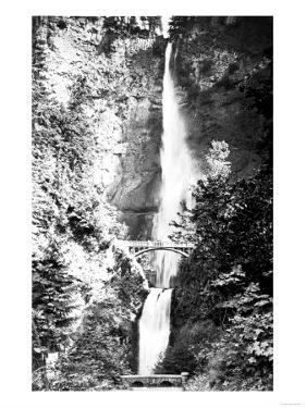 Multnomah Falls Photograph - Columbia River, OR by Lantern Press