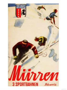 Murren, Switzerland - Inferno Races Promotional Poster by Lantern Press