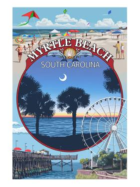 Myrtle Beach, South Carolina - Montage by Lantern Press