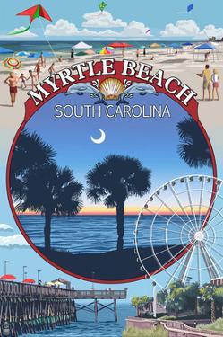 Myrtle Beach, South Carolina - Montage by Lantern Press