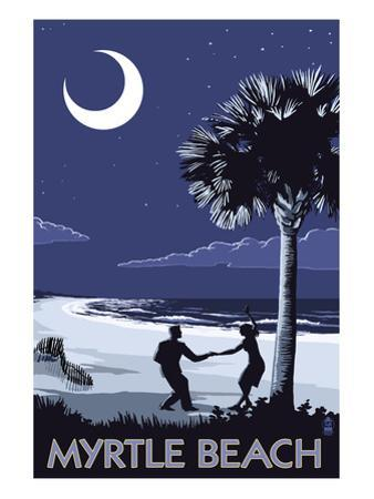Myrtle Beach, South Carolina - Palmetto Moon Beach Dancers by Lantern Press