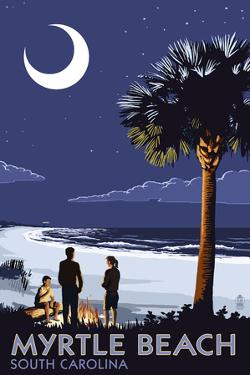 Myrtle Beach, South Carolina - Palmetto Moon by Lantern Press