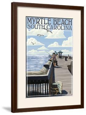 Myrtle Beach, South Carolina - Pier Scene by Lantern Press