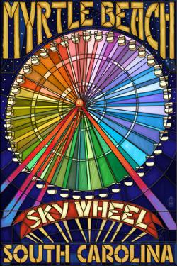 Myrtle Beach, South Carolina - Skywheel by Lantern Press