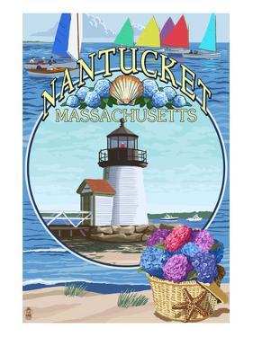 Nantucket, Massachusetts Montage by Lantern Press