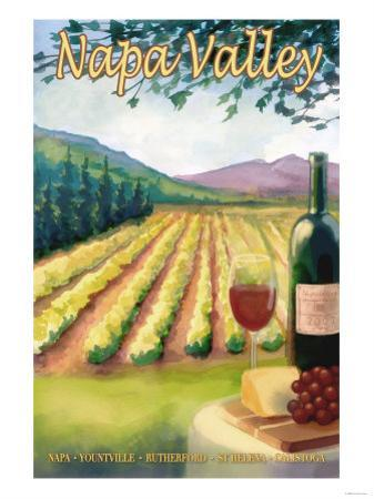 Napa Valley, California Wine Country by Lantern Press