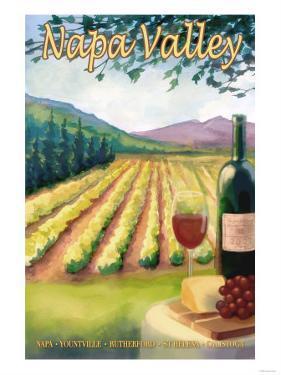 Napa Valley, California Wine Country by Lantern Press