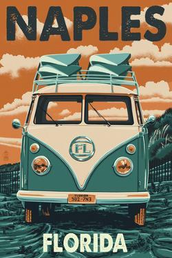 Naples, Florida - VW Van by Lantern Press