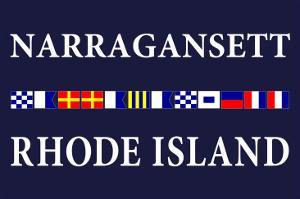 Narragansett, Rhode Island - Nautical Flags by Lantern Press