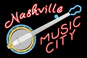 Nashville, Tennesse - Neon Banjo Sign by Lantern Press