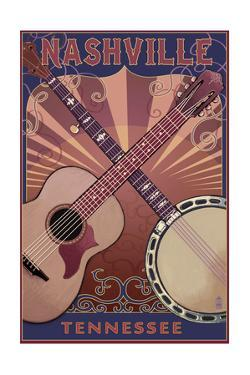 Nashville, Tennessee - Guitar and Banjo Music by Lantern Press