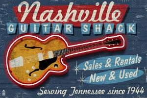 Nashville, Tennessee - Guitar Shack by Lantern Press