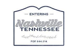 Nashville, Tennessee - Now Entering (Blue) by Lantern Press