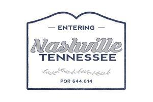 Nashville, Tennessee - Now Entering (Blue) by Lantern Press