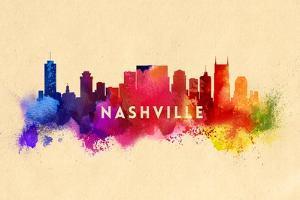 Nashville, Tennessee - Skyline Abstract by Lantern Press